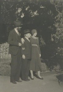 Ansel Adams, Albert Bender and Virginia Adams (Bancroft Library, photographer unknown)